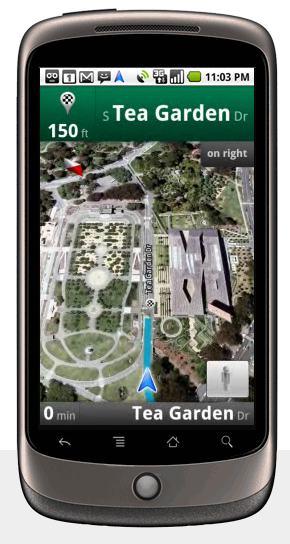 Google Nexus One - Google Maps